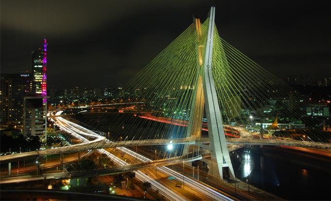 Cidade de São Paulo Ponte Estaiada
